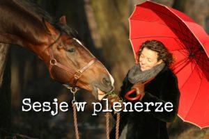 Pani z parasolką i koń Elear